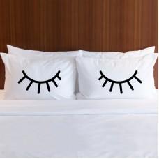 EYELASH print pillowcase (A set of 2 pillowcovers)