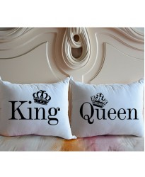 KING & QUEEN printed pillowcase (A set of 2 pillowcovers)
