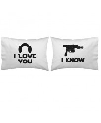 I love you I know pillowcase (A set of 2 pillowcovers) printed