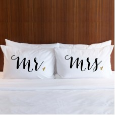 Personalised MR & MRS printed pillowcase (A set of 2 pillowcovers)