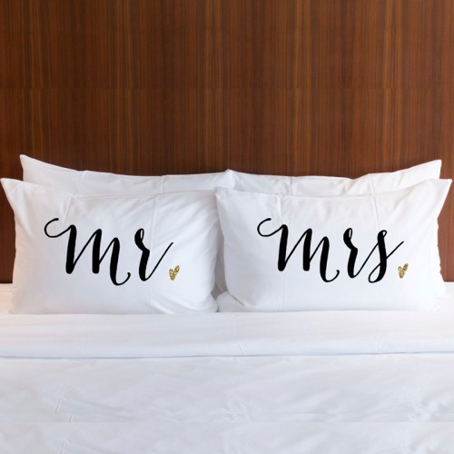 Home Wedding Personalised Pillowcases Personalised MR & MRS ...