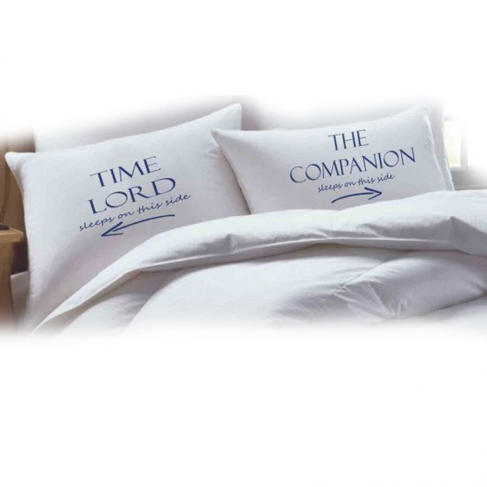 TIME LORD printed pillowcase (A set of 2 pillowcovers)