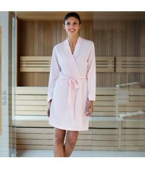 Jersey lightweight LIGHT PINK kimono robe