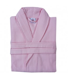 Light Pink Waffle weave Bathrobe