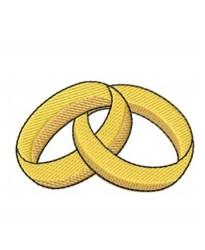 Shiny gold rings logo embroidered Bathrobe
