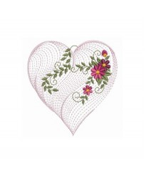 Rippled heart logo with diamond ring Bathrobe
