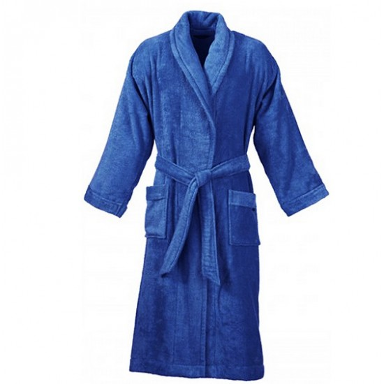Bathrobes in Royal Blue Cotton Terry