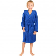 Children Royal Blue Hooded Robe