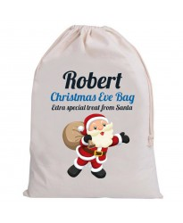Personalised Santa Christmas Eve sacks