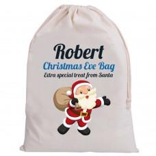 Personalised Santa Christmas Eve sacks