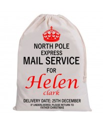 Personalised Santa Sack MAIL SERVICE