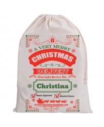 Personalised Santa Sack A very Merry Christmas