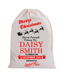 Personalised Santa Sack Merry Christmas
