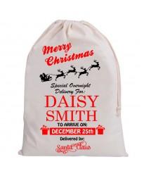 Personalised Santa Sack Merry Christmas