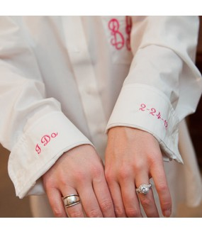 Monogrammed &Sleeve cuff embroidery Oversized Shirts