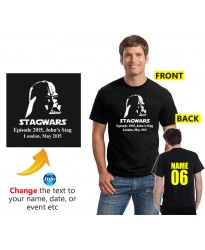 Darth Stagwars Customised Stag T shirt