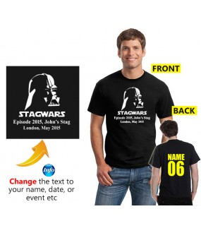 Darth Stagwars Customised Stag T shirt