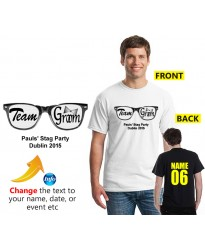 Stag T shirt cool black glasses with text