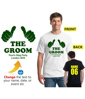 Stag T shirt thumbs up logo with custom text