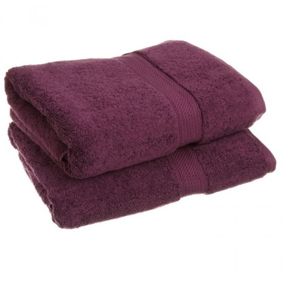 Large Bath Sheet Size 100 X 150 Cm Purple Towels