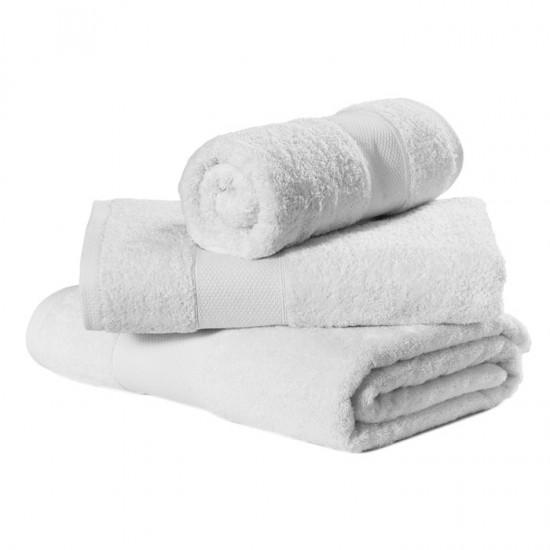 Large Bath Size White Towel 100 x 150 cm