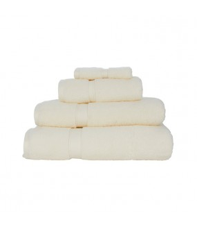 Large Bath Size Cream Towel 100x150 cm