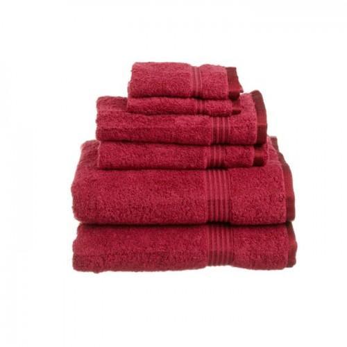 Red Towels Bathroom: Towel City Bath Shee Deep Red Towel