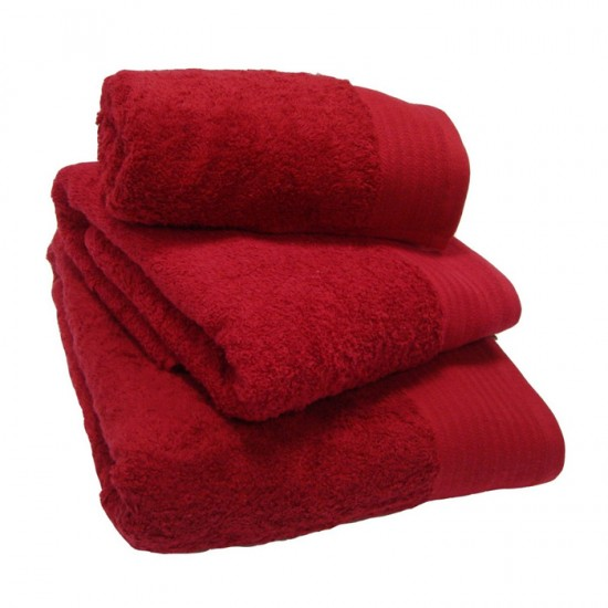 Large Bath Size Red Towel 100 x 150 cm