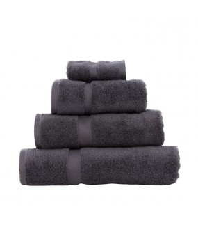 Large Bath Size Steel Grey Towel 100 x 150 cm
