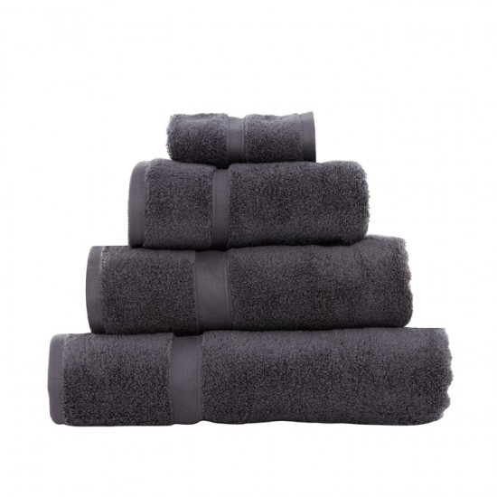 Large Bath Size Steel Grey Towel 100 x 150 cm