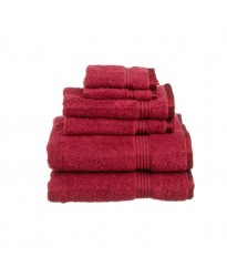Towel City Hand Size Deep Red Towel