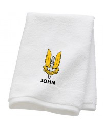 Personalised Who dares Wins SAS Towels with custom text