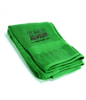 Personalised Eat Sleep Mine Towels with custom game tag text