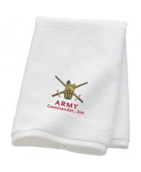 Personalised British Amy Commander Towels with custom text