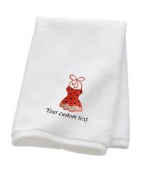 Personalised Bridal Holiday Bikini Towels with custom text
