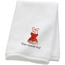 Personalised Bridal Holiday Bikini Towels with custom text