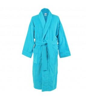 Turquoise blue Cotton Terry bathrobes