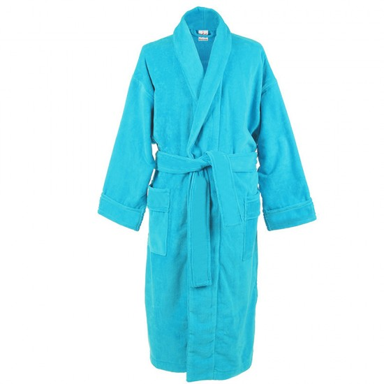 Turquoise blue Cotton Terry bathrobes