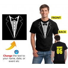 Tuxedo T Shirt suit Printed for Stag Night