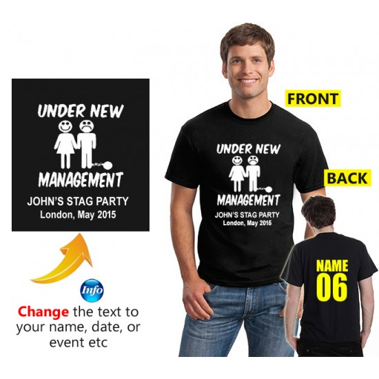 Personalised Stag T shirt Under New management