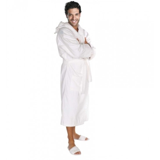 White Terry Hooded Robe