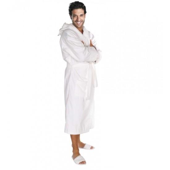 White Terry Hooded Robe