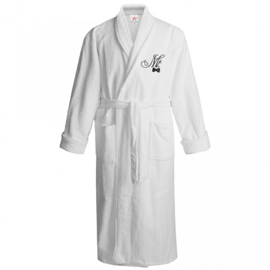 Mr blow logo Embroidery Bathrobe