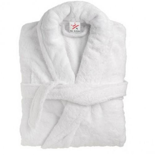 Bathrobe in 100% Cotton Terry White