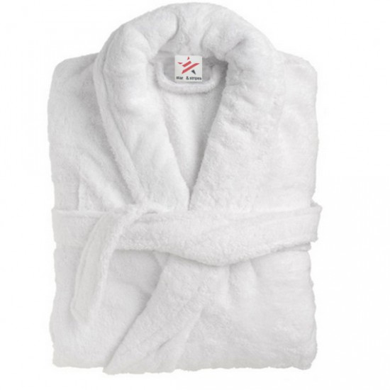 Bathrobe in 100% Cotton Terry White