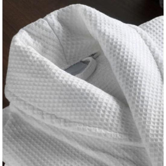 Children White Waffle weave Robe