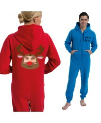 Personalised Reindeer with your image printed Onesies