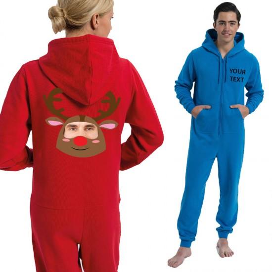 Personalised Reindeer with your image printed Onesies