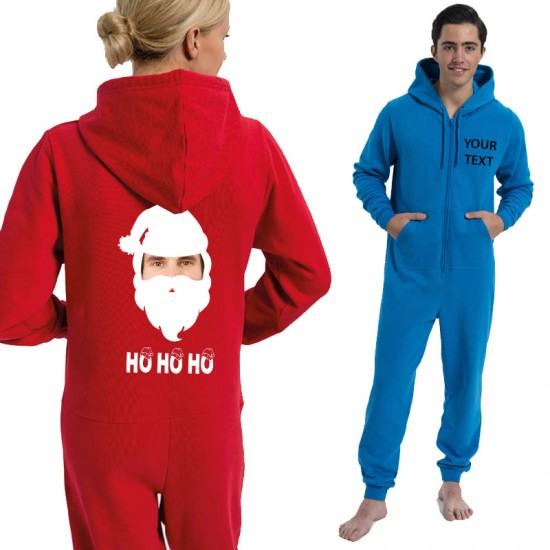 Personalised Father Christmas with your image printed Onesies