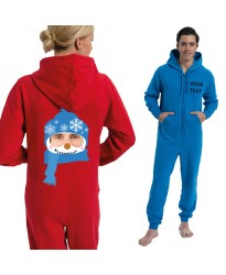 Personalised snowman with your image Christmas Onesies